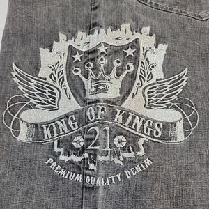 Vintage Southpole King of Kings Gray Skater Jeans